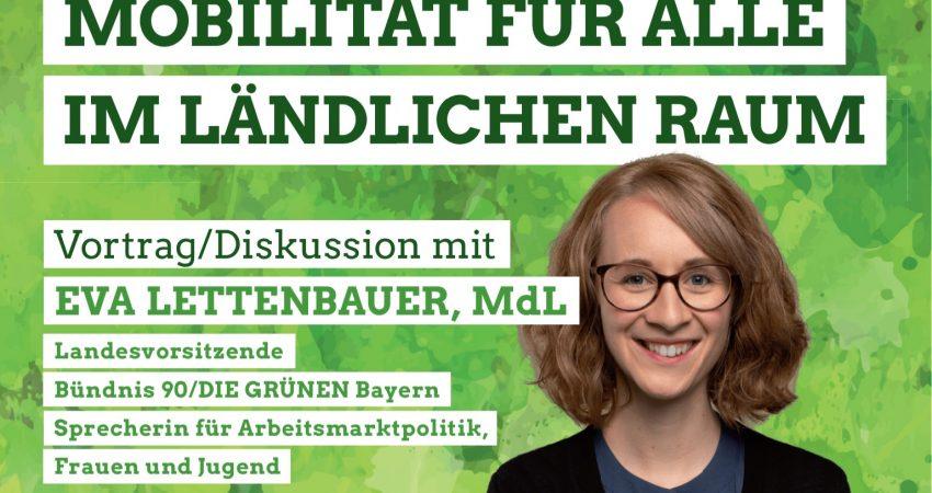 Einladungs-Share-Pic mit Foto von MdL Eva Lettenbauer